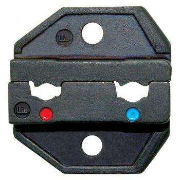 Crimpeneinsatz für gewinkelte isolierte Kontakte rot + blau